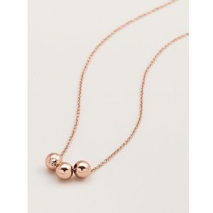 Gorjana Newport Beaded necklace in rose gold